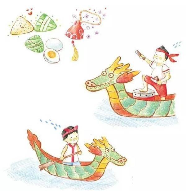 儿童简笔画 粽子龙舟屈原等端午节各类创意画法 教育频道