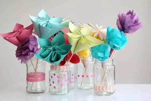 幼儿园亲子手工之折纸,四种小花的教程,为母亲节增添一缕芬芳