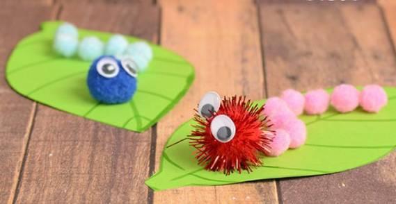 幼儿园亲子手工制作毛毛虫