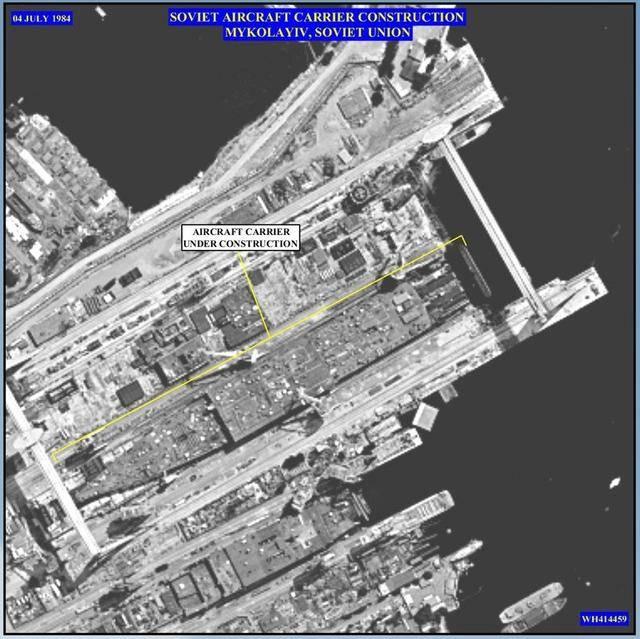 当时的黑海尼古拉耶夫船厂自然是冷战铁幕下美国北约国家的侦察卫星紧