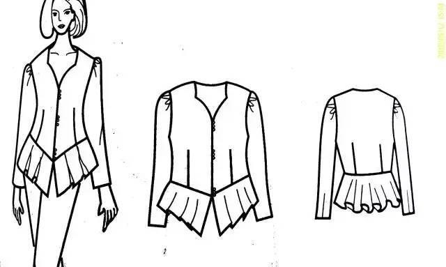 四种女士衬衫的版型设计!