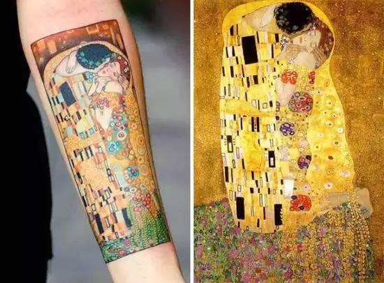 每日纹身图集|油画纹上人皮是个啥样的质感?
