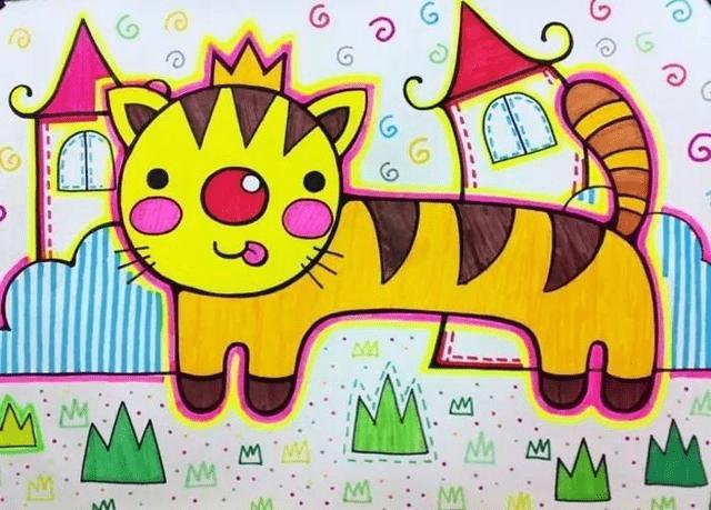 幼儿园美术 蜡笔画作品欣赏,让孩子感受画画乐趣