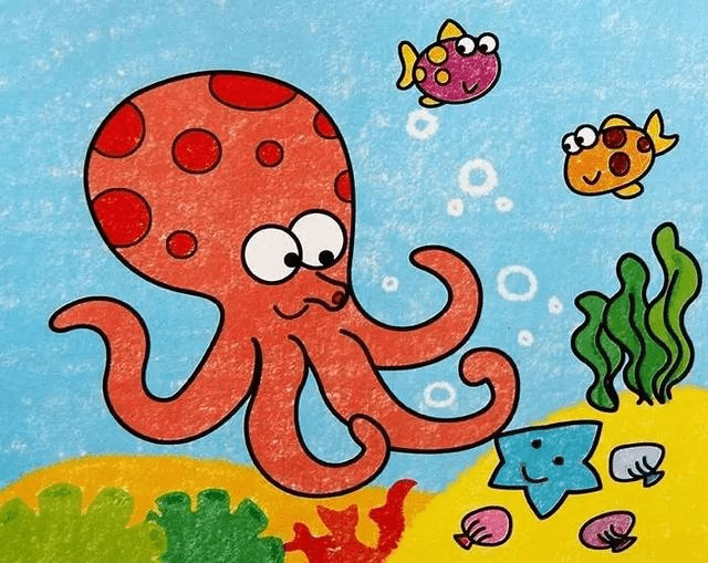 幼儿园美术:蜡笔画作品欣赏,让孩子感受画画乐趣图片