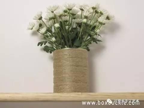 奶粉罐diy花盆