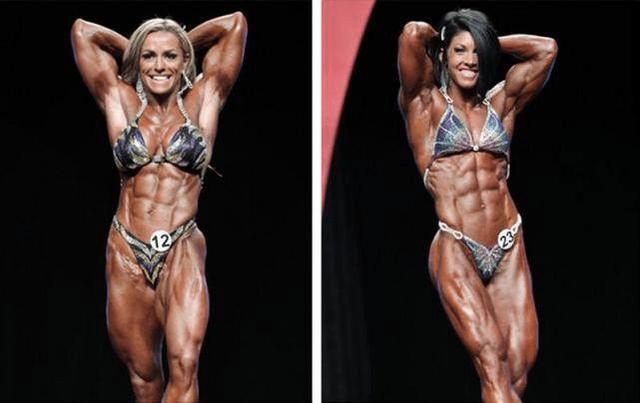 健美肌肉女写真_穿上高跟鞋的肌肉女比男都要强壮!健身健体到健美