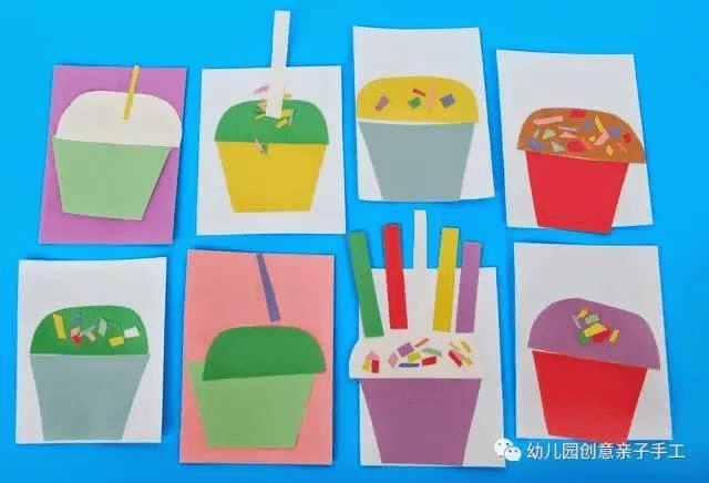 幼儿园手工之卡纸粘贴画:超级有创意,陪孩子玩玩