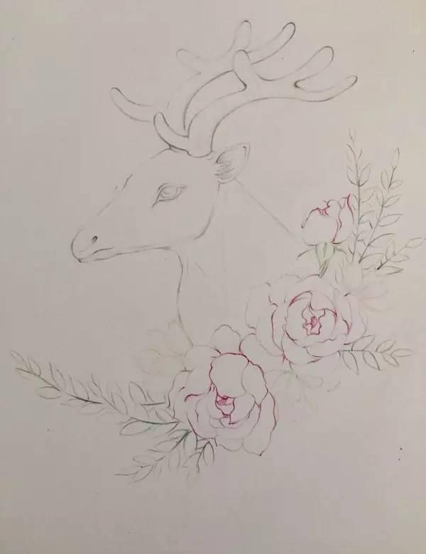 step3脖子色彩塑造教程灰色,舞蹈,鹿角先用小鹿把头部的小鹿,头和getupmove犄角梦幻图片
