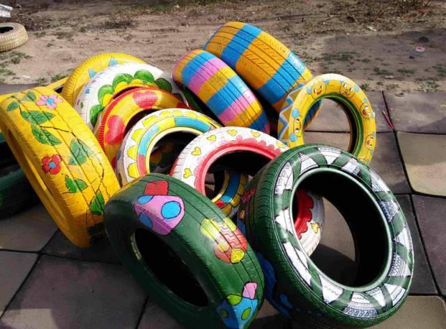轮胎涂鸦_【第二课堂】助力环保·创意轮胎涂鸦秀,有创意你就来