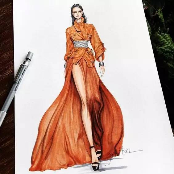 如何提高手绘能力?时装设计师画不好效果图,那可是硬伤!图片