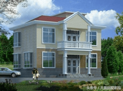 农村自建二层别墅,含平面图 地基施工图