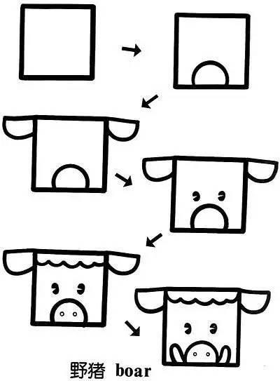 一个正方形可变成近50种图案