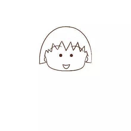 儿童简笔画 可爱的樱桃小丸子,喜欢就画一个吧