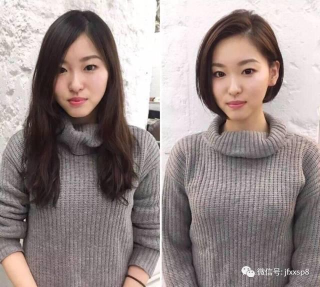 包包头又称之为齐脖短发,这款发型既修饰脸型又减龄,是春天发型的