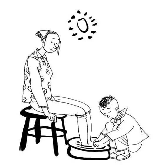儿童简笔画:尊老爱幼,让孩子从小养成好习惯!