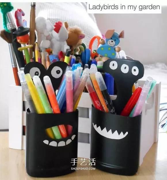 可爱又环保的简易笔筒手工制作,你值得拥有(^o^)