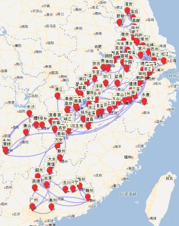 厉害了 | 有人把李白杜甫一生的旅行足迹做了地图,忽然发现了不得了的