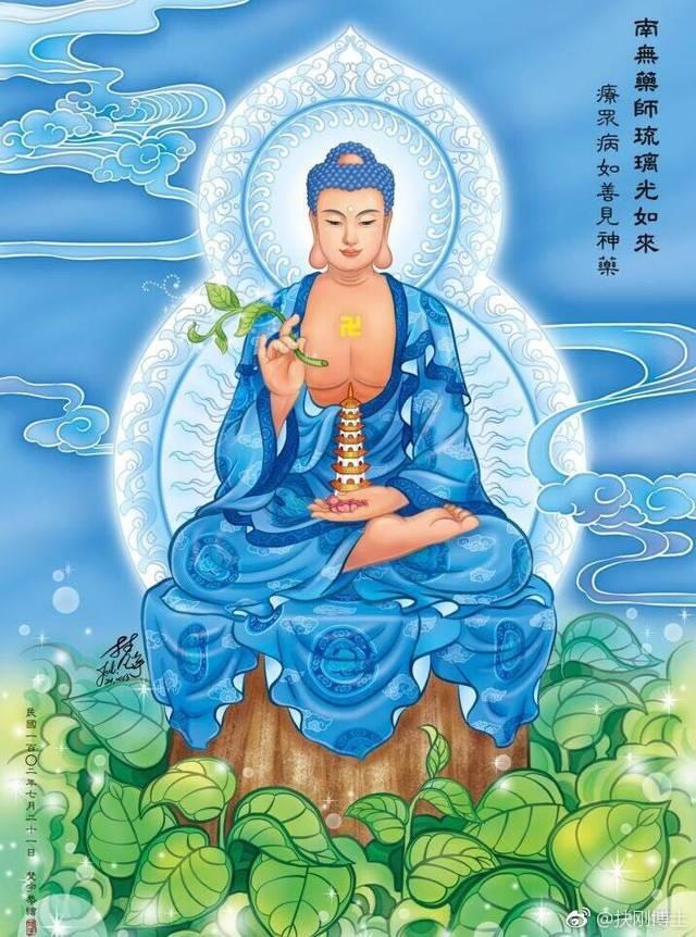 扶刚说法:药师佛咒语与手印