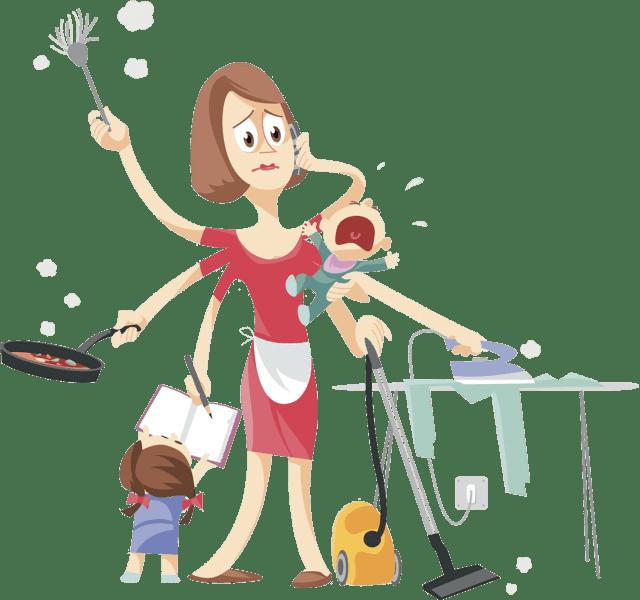 妇女能顶半边天 二妞是持家带娃的女汉子,刚把脏衣服丢进洗衣机,扫地图片