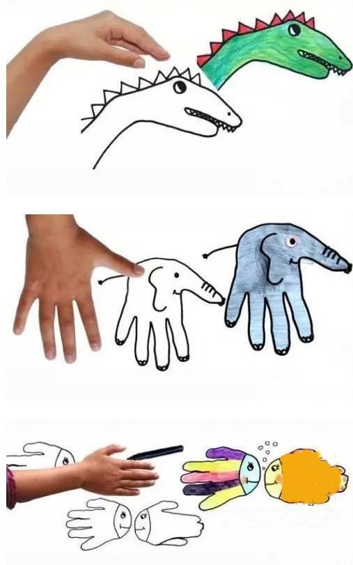 幼儿园手指画大全,手指也能玩出一种创意!