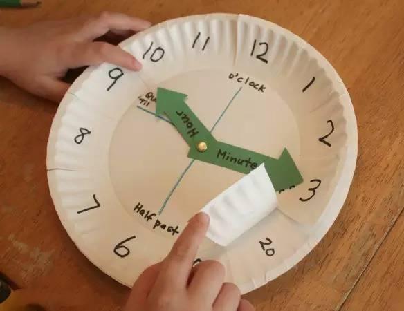 玩教具 幼儿园手工时钟,培养孩子的时间观念