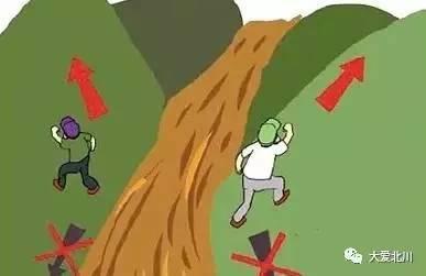 千万不要在山洪泥石流中横渡.图片