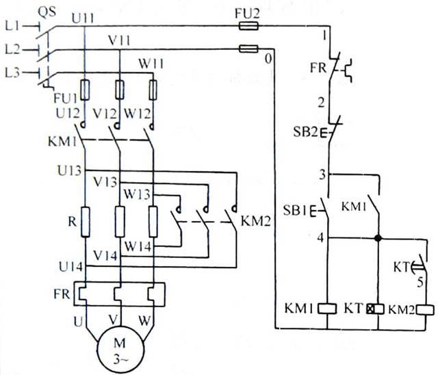 2.自耦变压器减压起动控制电路