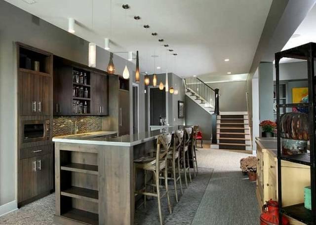 现代风格家庭吧台装修效果图