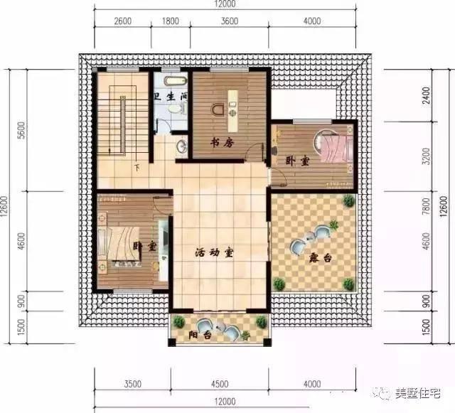 12x14米农村自建房,带大堂屋设神位符合农村图片