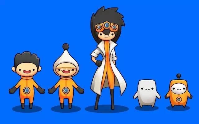 极橙自己的卡通人物形象……猜猜哪个是医生