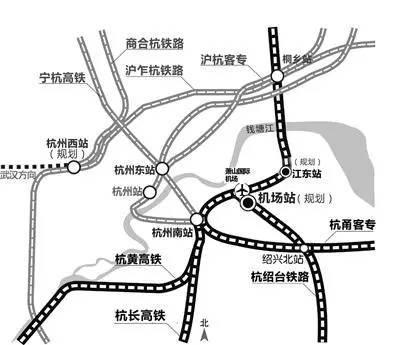 萧山机场将建高铁站,1小时直达