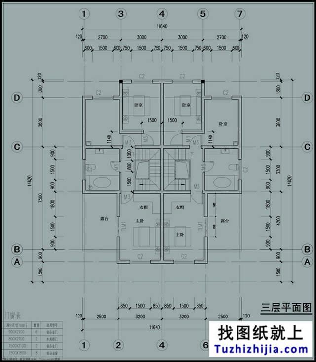 最新:三层双拼别墅设计施工图,双拼户型代表作!图片