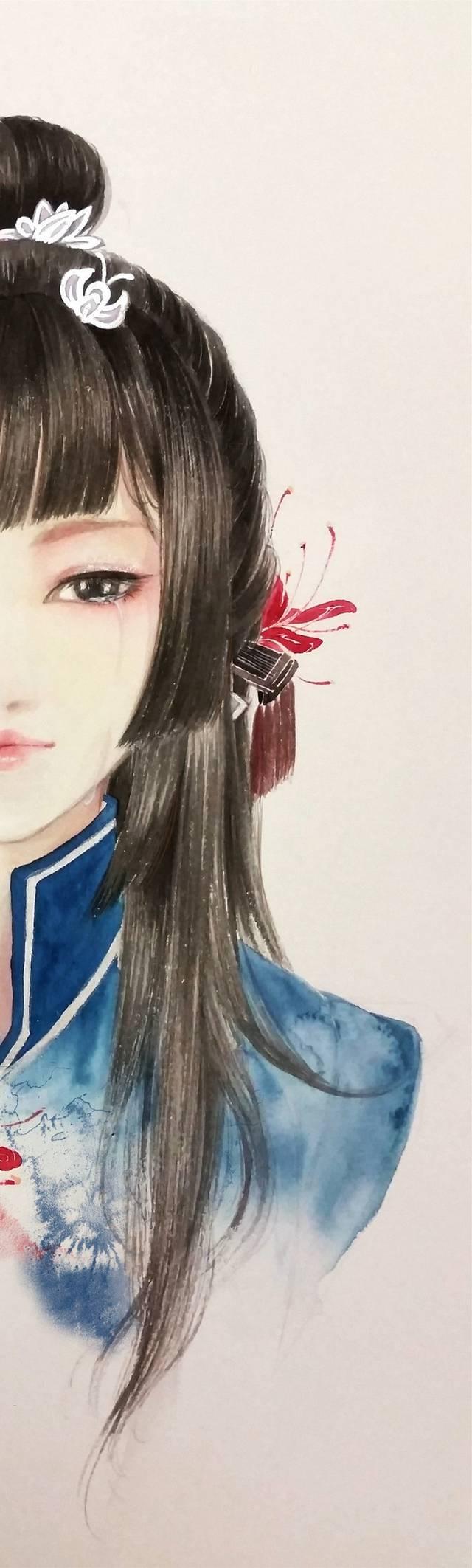 超美的古装美女手绘图~~-娱乐频道-手机搜狐
