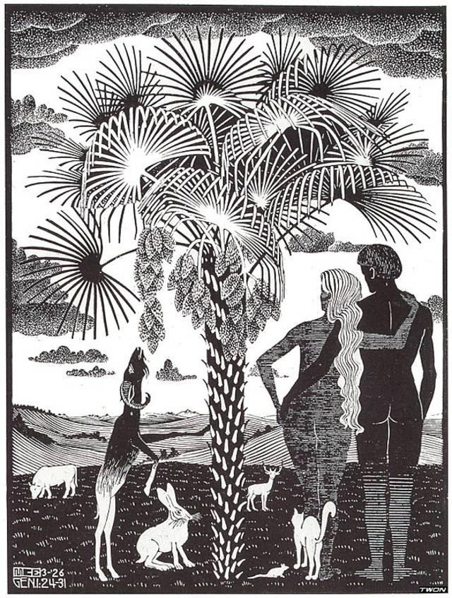 (克拉纳赫父子都画过亚当和夏娃,有两幅还挺像,根据亚当拿树叶是左手图片