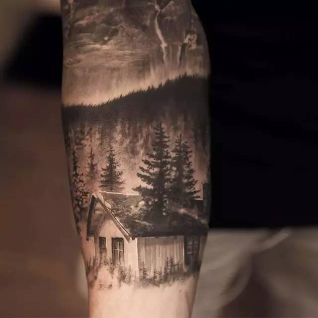 纹身丨国外评选的十幅最受欢迎的「建筑纹身」,这种另类风格你喜欢吗?