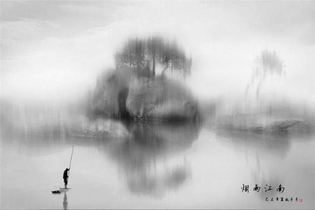 一叶小舟渔人立图片