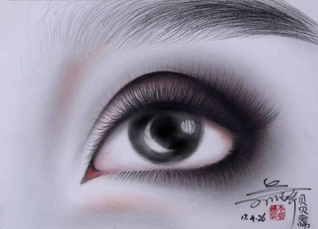 【一组手绘眼妆设计图】
