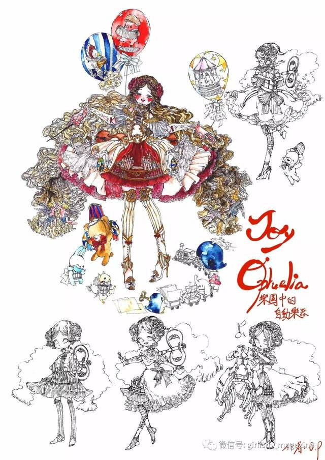 【lolita画稿大赛】参赛作品展示17,手绘特辑