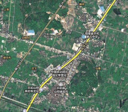 山格墟卫星地图图片