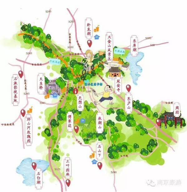2016南京手绘骑行徒步地图出炉,快跟着脚步晒风景美图