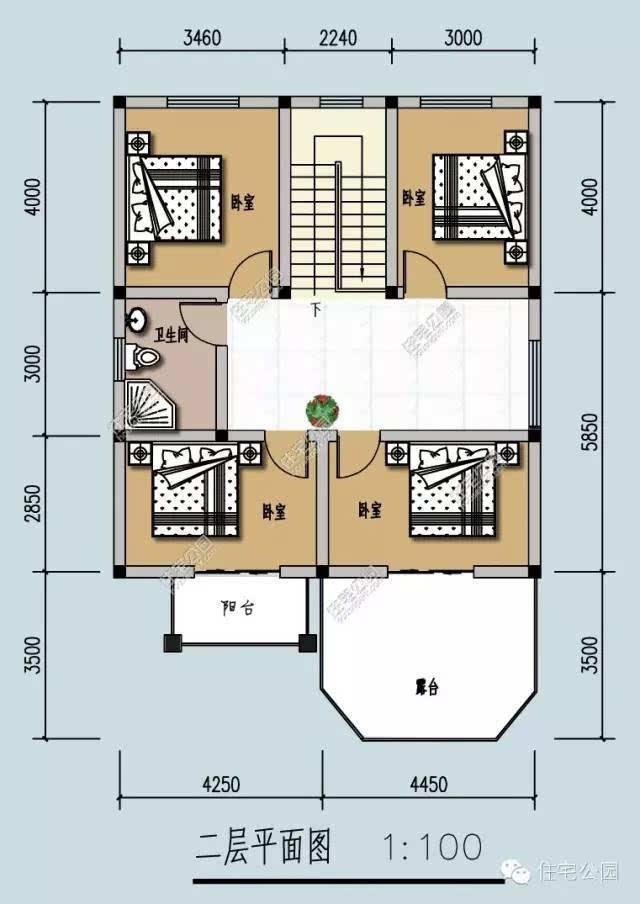25万搞定农村2层小别墅 9米x13米 含图纸预算图片