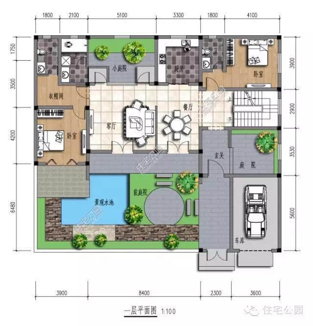 农村建房子 四合院还是徽派小院好 含平面图图片