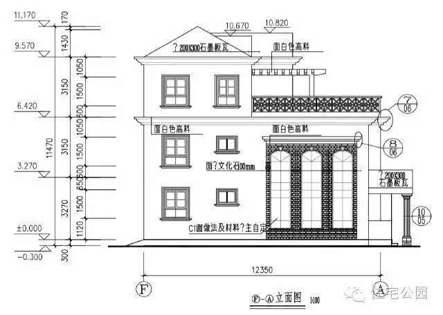 新农村自建房3层10米x12米 含平面图布局风水好图片