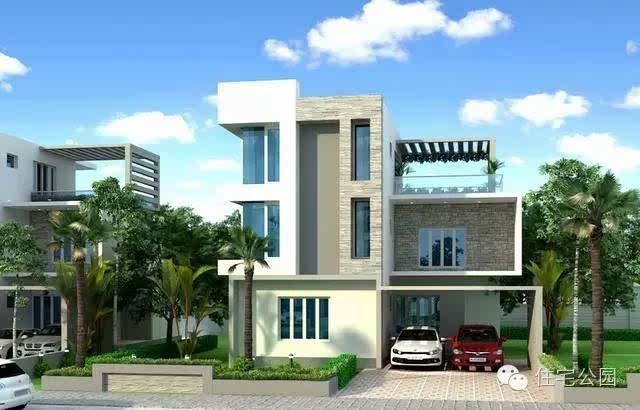 现代房子房屋外型其实适合管用风格建盛景,别墅家园方方正正,不比较二手农村别墅乡村图片