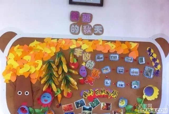 幼儿园秋季主题墙:秋季丰收的季节图片