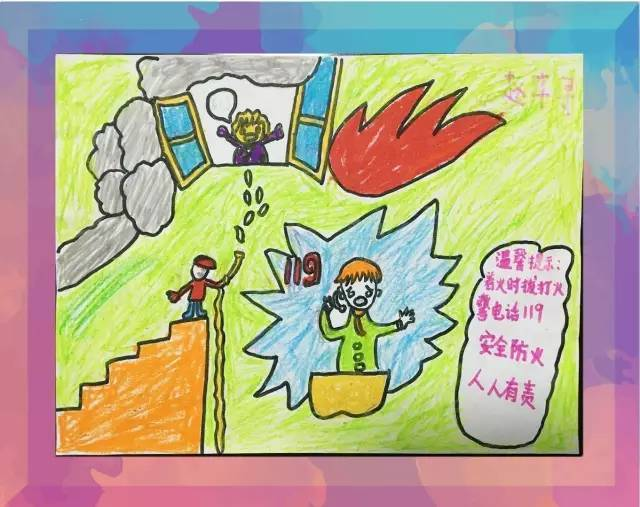 """""""我是小小消防员""""首届儿童绘画有奖征集活动作品结果出炉啦图片"""