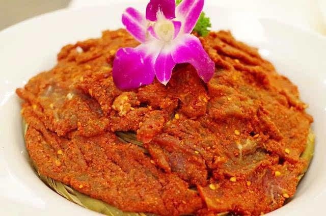 重庆火锅代表菜潮椒牛肉