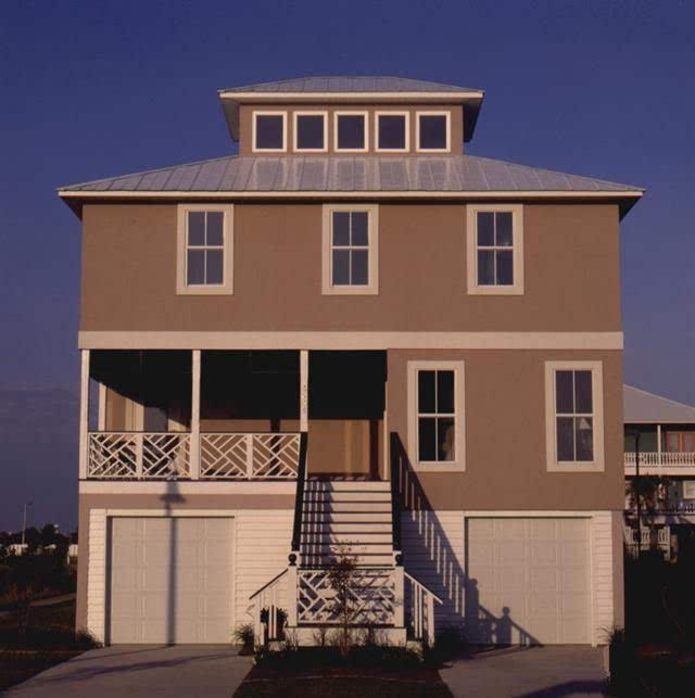 农村自建房屋设计图纸两层半带架空层别墅9米x8米免费下载轻钢结构图片
