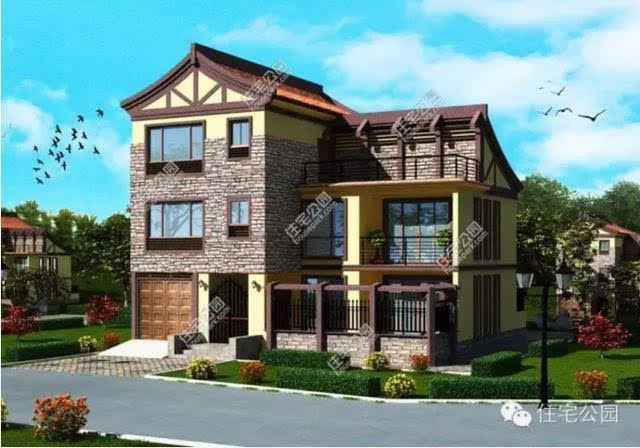 两款新农村自建12×11米小别墅,高调低调哪个更好