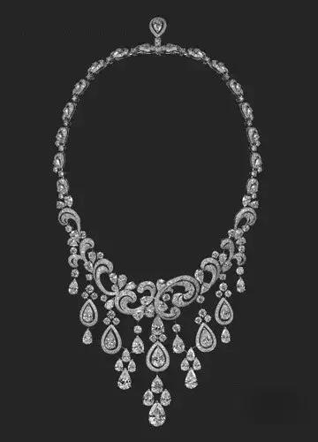 卡地亚钻石高级珠宝项链
